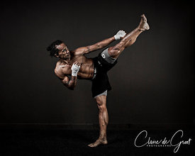 Sports Portrait of Marco Apelé, triple kickboxing world champion