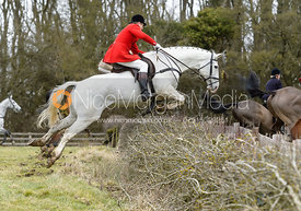 Nicholas Leeming jumping a hedge at Orton Park