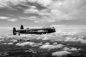 617 Squadron Tallboy Lancasters black and white version