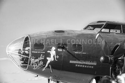 Memphis Belle- Left Side Nose Art (B&W)