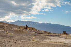 Remains of industrial workings at at the old Harmony Borax mine works in Death Valley, California.