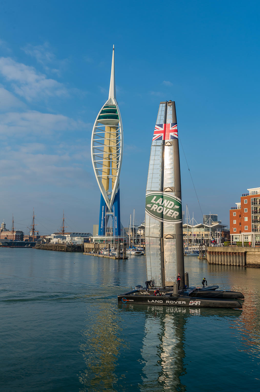 Team Land Rover UK in Portsmouth harbour