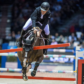 Bordeaux, France, 4.2.2018, Sport, Reitsport, Jumping International de Bordeaux - Grand Prix LAND ROVER .Trophée MAIRIE DE BORDEAUX. Bild zeigt Scott BRASH (GBR) riding Hello Shelby (5*)...4/02/18, Bordeaux, France, Sport, Equestrian sport Jumping International de Bordeaux - Grand Prix LAND ROVER .Trophée MAIRIE DE BORDEAUX. Image shows Scott BRASH (GBR) riding Hello Shelby (5*).