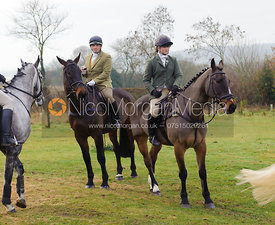 Miles Underwood and Alice Pegley - The Cottesmore Hunt at Hill Top Farm 10/12/13