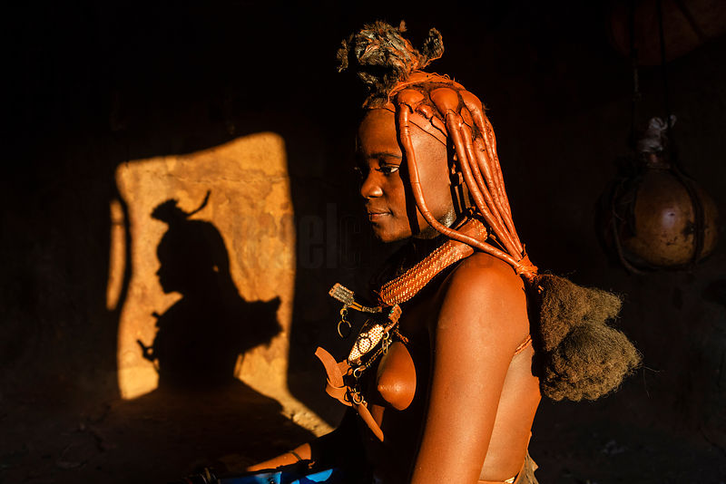 Portrait of a Young Himba Woman