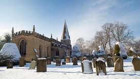 Winter at St Anne's church Baslow