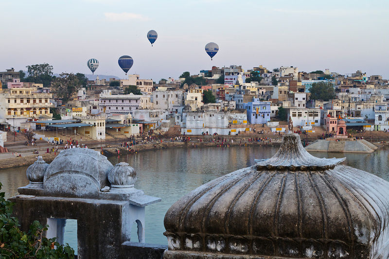 Hot Air Balloons over Pushkar.