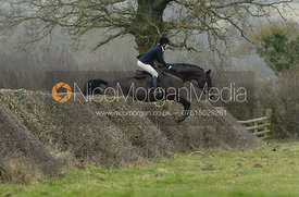 Ida Thore jumping a hedge at Leicester Lane