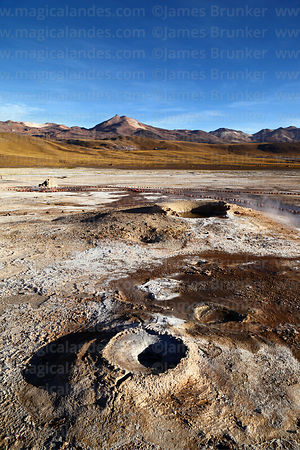 Geyser / fumarole vent at El Tatio geyser field, Region II, Chile