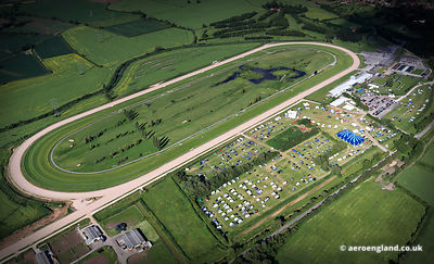 aerial photograph of  Southwell Racecourse Nottinghamshire England UK.