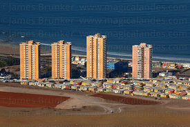 Apartment blocks on outskirts of Iquique , Region I , Chile