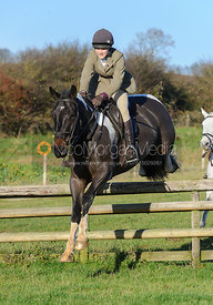 Isobel McEuen jumping a hunt jump at Burrough House