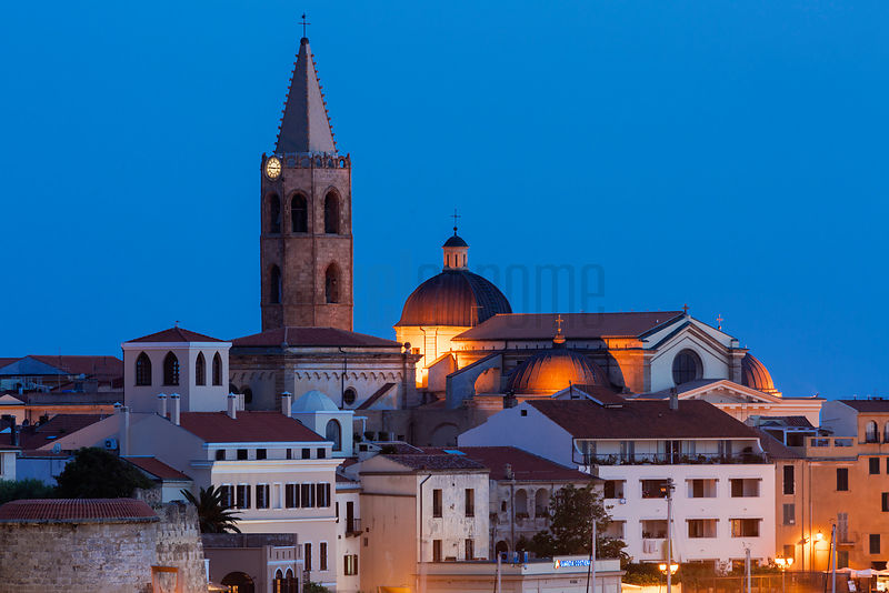 Elevated View of the Centro Storico (old City) at Dusk