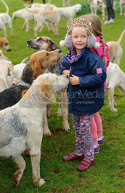 Young supporters at the meet - The Cottesmore at Langham.