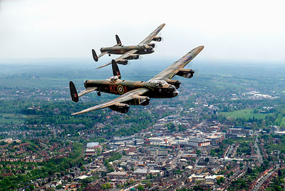 Two Lancasters over High Wycombe