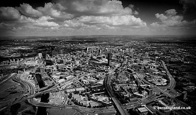 aerial photograph of Manchester England UK