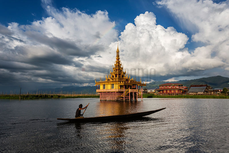 Buddhist Monk's Ordination Hall on Inle Lake