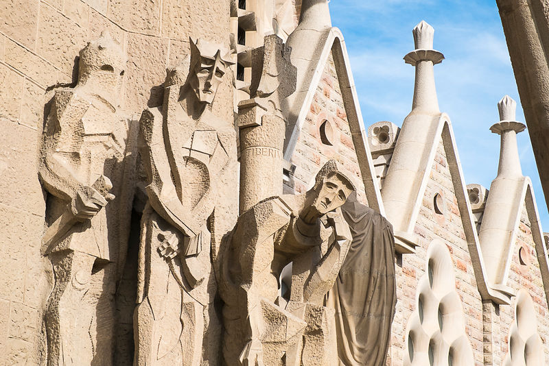 The Judgement of Jesus - La Sagrada Familia - Barcelona, Spain