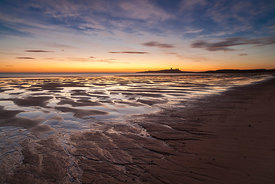 Pre-dawn light at Dunstanburgh Northumberland