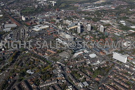 Stockport Aerial photograph looking across Shaw Heath and Stockport College towards Stockport Town centre