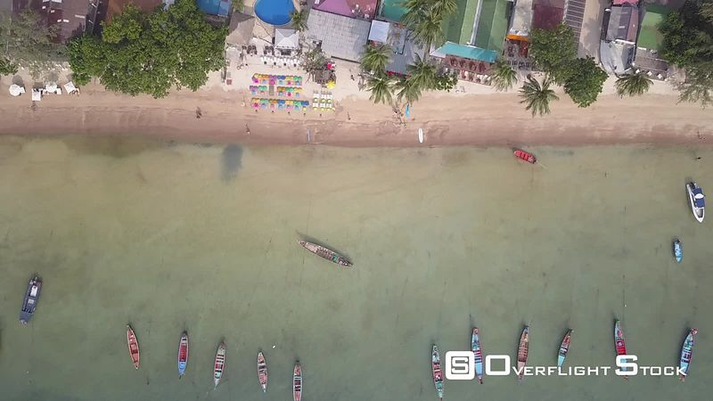 Top Down Drone Video Ko Tao, Ko Phangan District, Surat Thani, Thailand