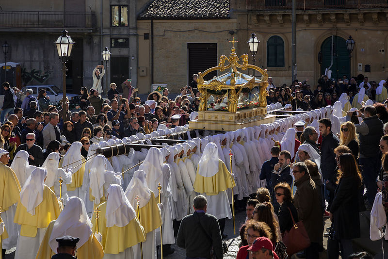 The Confraternita de Salvatore Carry the Simulacri of the Dead Christ During the Good Friday Procession