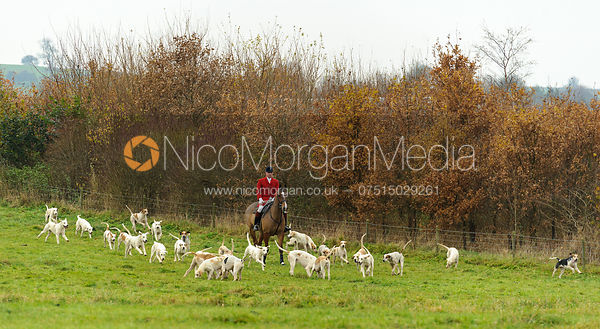 Huntsman Andrew Osborne MFH - The Cottesmore Hunt at Dene Bank Farm 3-12