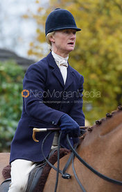 Annabel Bealby at the meet - The Cottesmore at Knossington 22/11