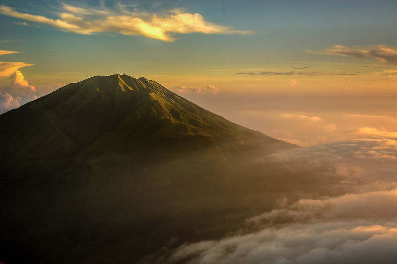 Gunung Merbabu as seen from Mt. Merapi.  Near Yogyakarta, Indonesia.