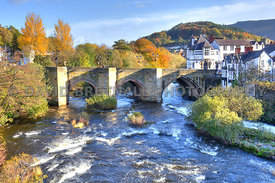 Llangollen Bridge & The River Dee (Autumn)