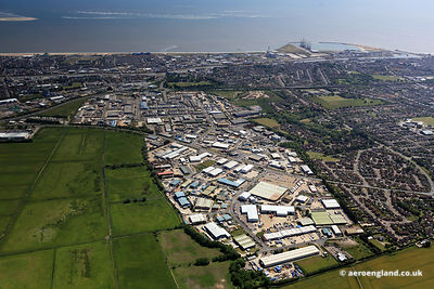 aerial photograph of  Gapton Hall Rd.Gapton Hall Industrial Estate Great Yarmouth