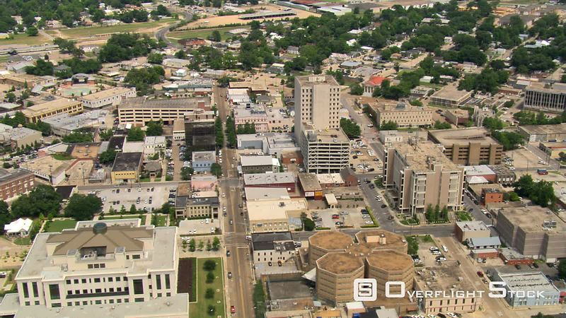 Flight over downtown Lafayette, Louisiana.