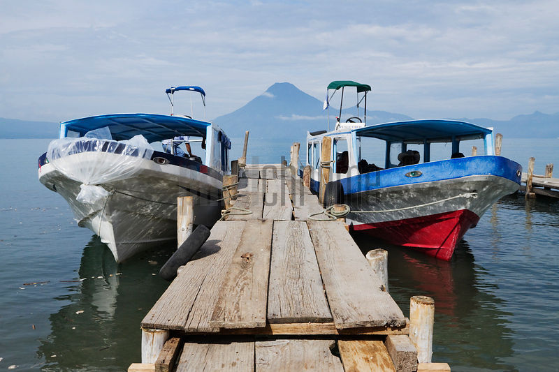 Water Taxis, Lake Atitlan, Panajachel, Solola Department, Guatemala
