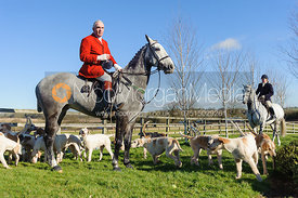 Andrew Osborne MFH and hounds - The Cottesmore at Furze Hill.