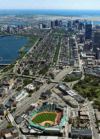 Boston Fenway Park and Back Bay
