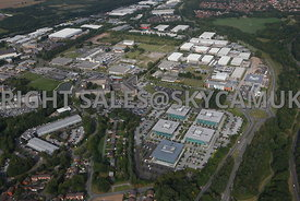 Warrington aerial photograph wide angle view of Birchwood Park Industrial Estate