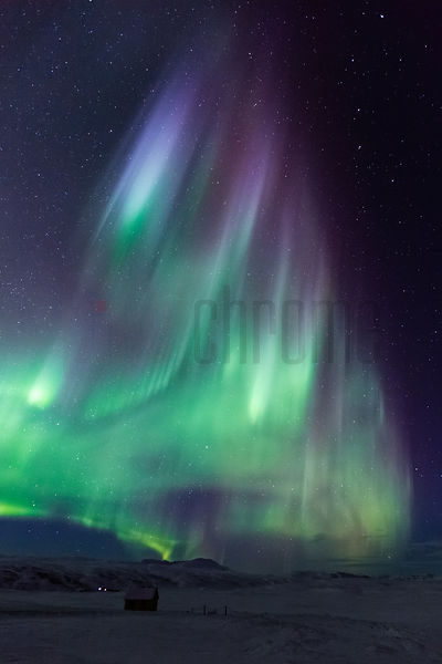Aurora Borealis in Night Sky