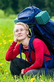 Hiker with Rucksack