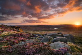 Sunset from Stanage Edge, Peak District