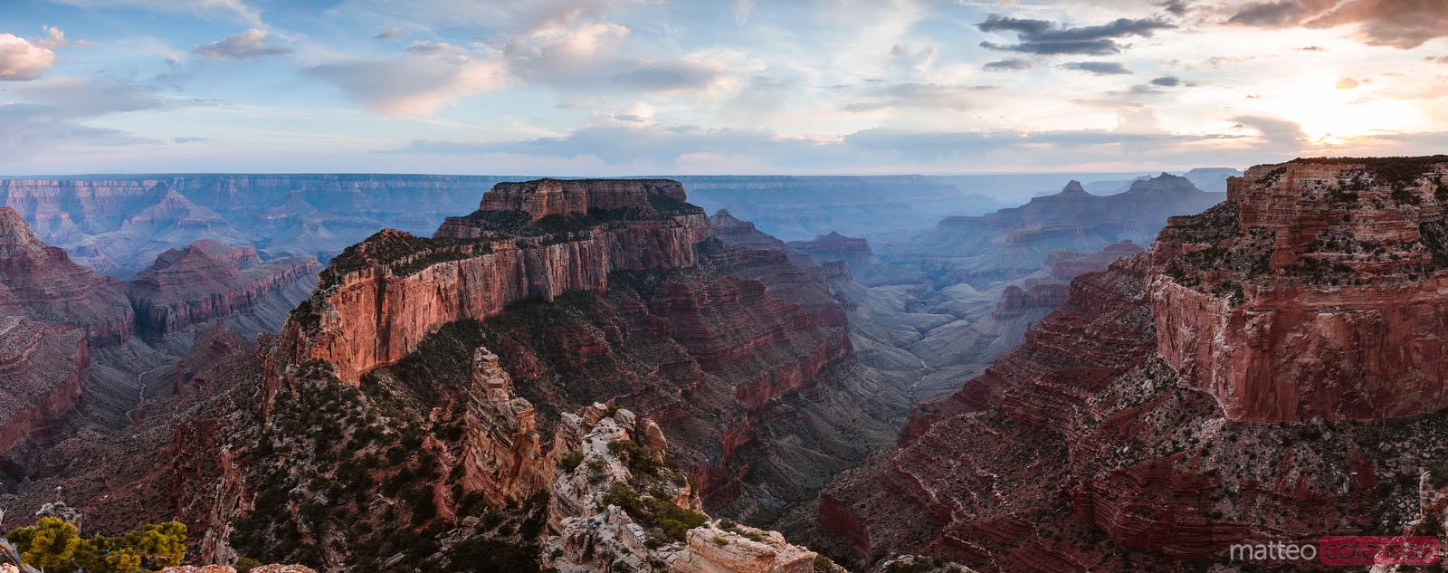 Panoramic sunset, Grand Canyon National Park, USA