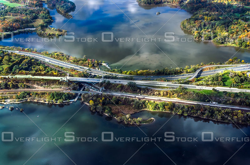 Roads cut through Burlington Bay and Cootes Paradise Ontario