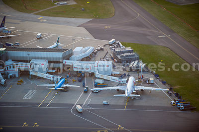 Aerial view of Heathrow Airport, London Borough of Hillingdon