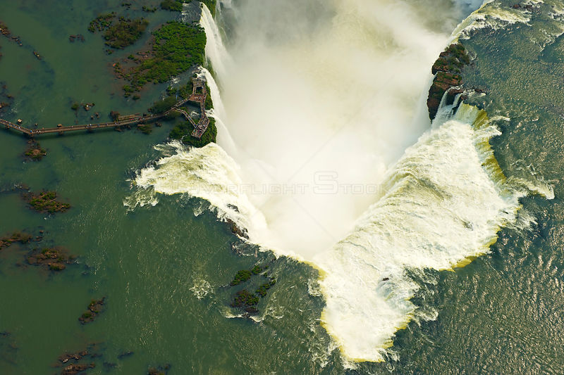 Aerial view of the Iguazu Falls, Brazil, August 2010. This image was highly commended at the 2011 Sony World Photography Awards.