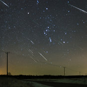 Half an hour of Geminids. 24 Geminid meteors are captured in this composite taken on December 14 2015 in rural Southern Finland near the town of Mäntsälä.