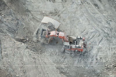 Hydrolic Shovel and Dump Truck, Alberta Oilsands