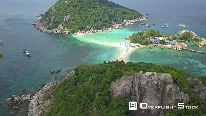 Koh Nang Yaun Viewpoint Drone Video Ko Tao, Ko Phangan District, Surat Thani, Thailand
