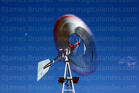 Close up of small windmill for pumping water, Bolivia