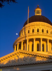 State Capitol and Moon