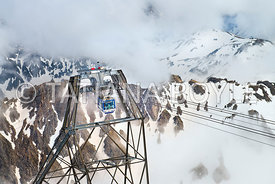Cable car in Hautes-Pyrenees