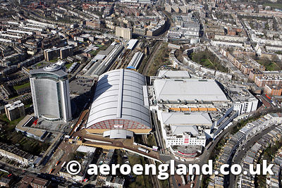 aerial photograph of Earls Court  London UK